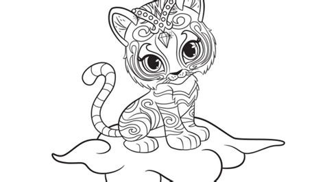 shimmer and shine coloring pages nick jr shimmer and shine nahal colouring page