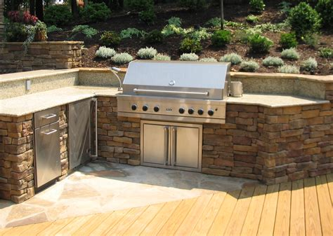 how to design an outdoor kitchen this look for the bbq area