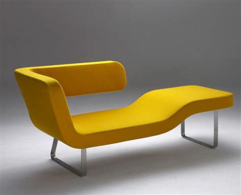 yellow chaise lounge yellow lounger by rene sulc chairblog eu