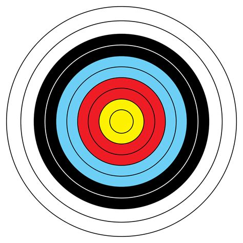 Sasaran Tembak Shooting Target Paper Circle activities eigg adventures