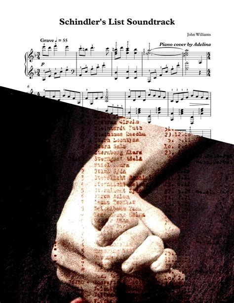themes in schindler s list movie quot schindler s list quot movie theme piano sheet music