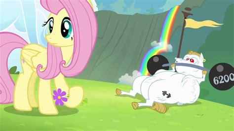 bulk pony image fluttershy and bulk hear rainbow wailing s4e10 png