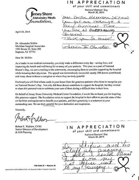 Thank You Letter Doctor After Surgery thank you letter for doctor after surgery 28 images