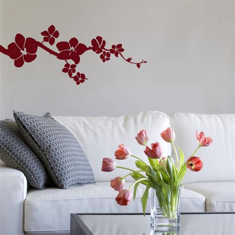 orchid wall stickers simple orchids wall decals stickers graphics