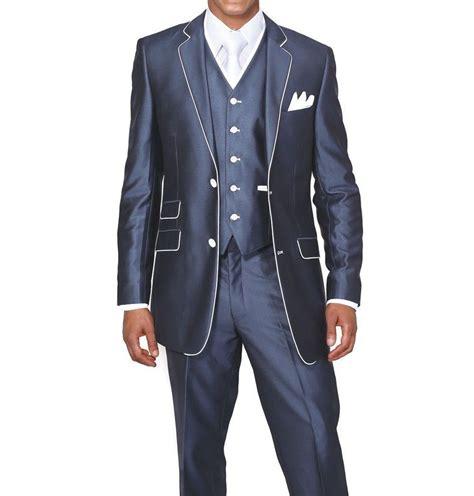 suit colors men s luxurious 3pc slim fit wool feel suit set color navy