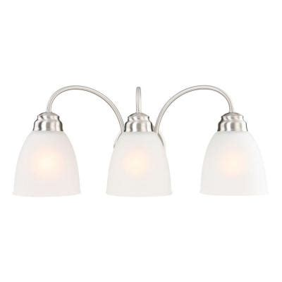 Bathroom Lighting Home Depot by Commercial Electric 3 Light Brushed Nickel Vanity Light