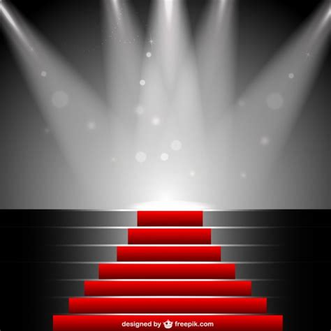 free stage background design vector red carpet under sportlight vector free download
