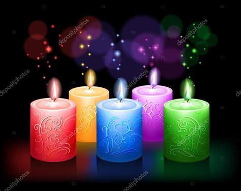 colorful candles g 252 zel foto ger 231 ek 231 i renkli mumlar k箟rm箟z箟 sar箟 mavi