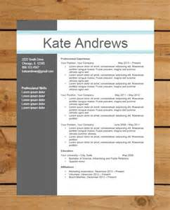 resume template instant word document download modern
