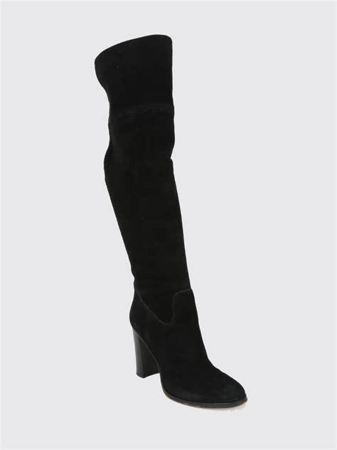 michael kors black suede high heel knee boots 40