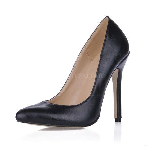 narrow high heels black pointed toe pumps heels dress narrow pu