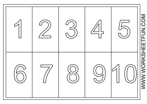 coloring pages of numbers 1 5 printable numbers 1 10 boxfirepress