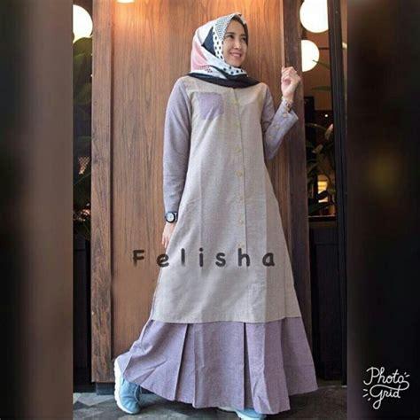 Gamis Motif Soft Color 03 gamis remaja modern maxi felisha baju muslim terbaru