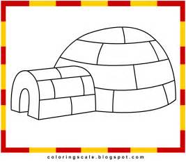 igloo coloring page free coloring pages of on igloo