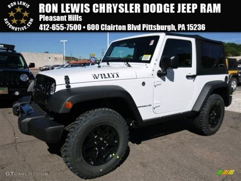 jeep willys white 2016 bright white jeep wrangler willys wheeler 4x4