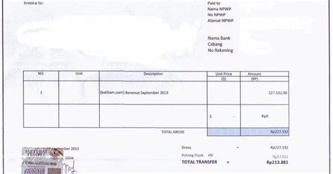 contoh surat tagihan invoice yang baik dan benar 171 contoh