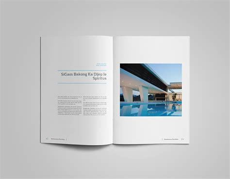 design folio template a4 and us letter portfolio catalog template on behance