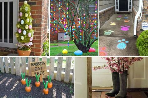 garden wall decoration ideas 29 cool diy outdoor easter decorating ideas amazing diy