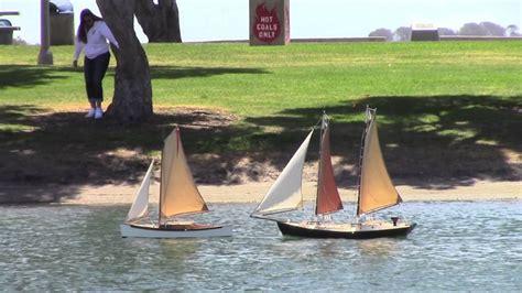 model boats san diego schooner sailing on san diego model yacht pond youtube