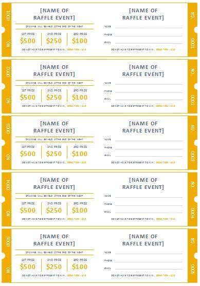 printable raffle ticket template free printable raffle ticket templates templates