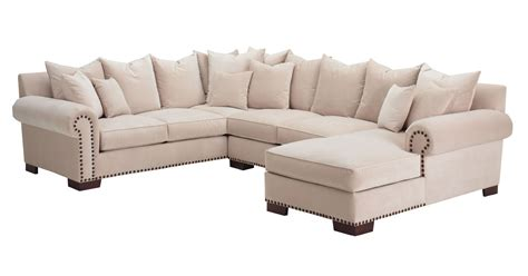 bennington u shape sectional w polycloud seats