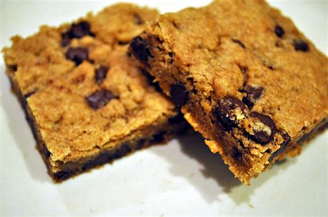 Peanut Butter Chocolate Chip Bars peanut butter chocolate chip bars hell yeah it s vegan