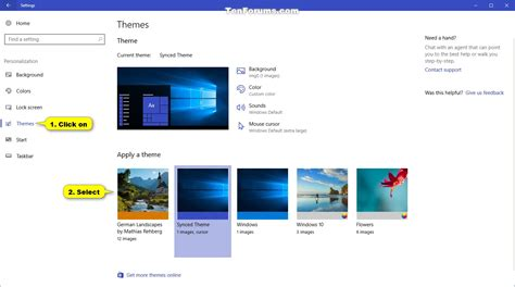 windows 10 themes changer theme change in windows 10 windows 10 tutorials