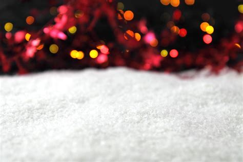 free christmas with snow and lights backgrounds for