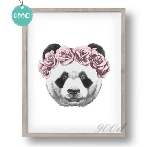 Poster Photo Canvas Cats 30x30cm Panda Drawing With Canvas Print Ifancee