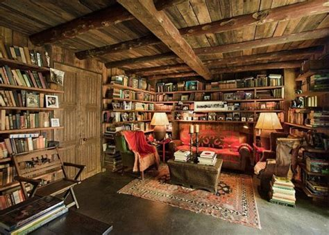 Rustic Ladder Bookcase Cozy Winter Homes In Which To Hibernate Fox News