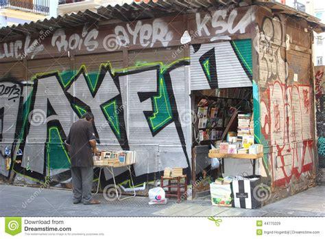 street art graffiti  antique book store valencia