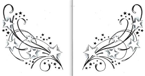 stars with swirls tattoo designs swirl tattoos designs