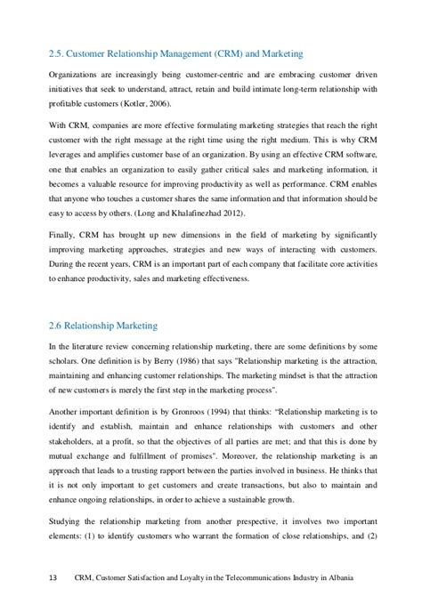 customer relationship management dissertation customer relationship management master thesis