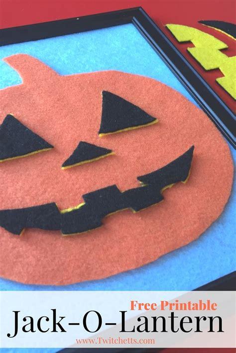 printable jack o lantern craft free jack o lantern printable activities pumpkins and