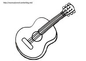 Coloriage Guitare Et 224 Gommettes
