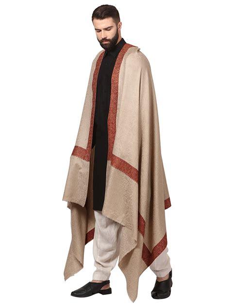 Pashmina Bordir Pashmina 1 pashtush mens embroidery shawl gents pashmina shawls border design pashtush store