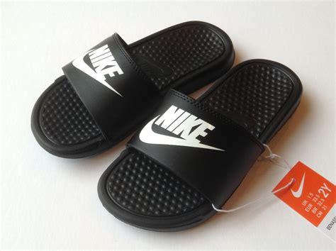 all nike sandals nike 555628 002 benassi jdi slide sandals black white