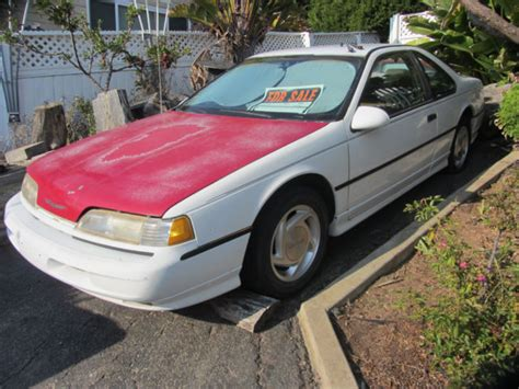electric and cars manual 1989 ford thunderbird spare parts catalogs 1989 ford thunderbird super coupe sc first year edition sc rare 5 speed config for sale ford