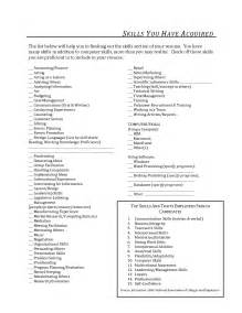 resume skills section sle list of skills and abilities computer skills section resume