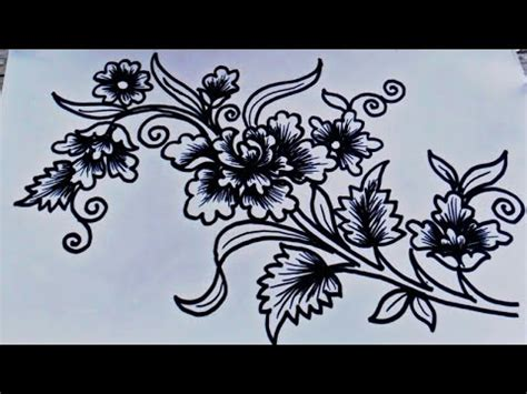 corak bunga simple desainrumahidcom
