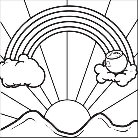 gold star coloring page rainbow and pot of gold coloring pages four leaf clover