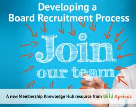 developing a board recruitment process wild apricot