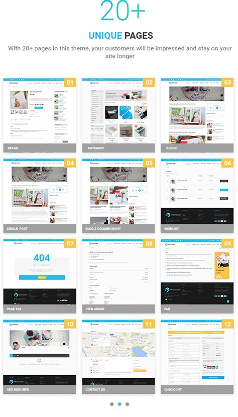 Printshop Wordpress Responsive Printing Theme By Netbaseteam Themeforest Print Shop Website Template