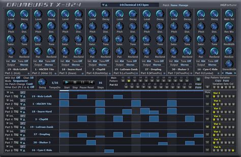 drum pattern vst download free 8 parts drum machine plug in drumburst x