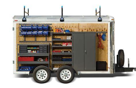 cargo trailer storage and equipment adrian steel