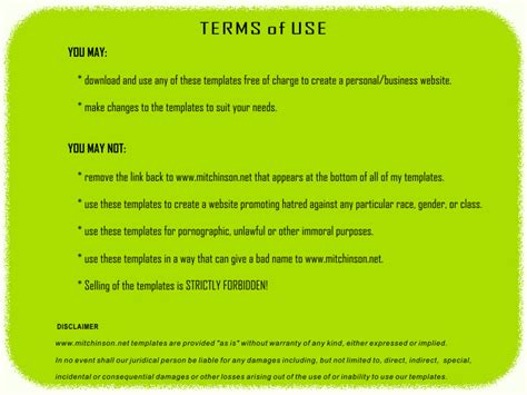 term of use template templates 9 free xhtml 1 0 transitional xhtml 1 0 strict