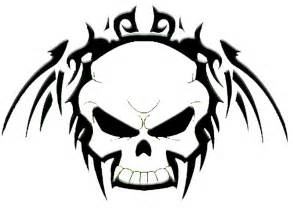 black and white skull designs clipart best
