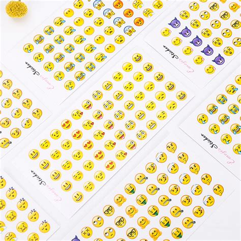 Decorative Cutting Sticker For Mobile Phone Handphone Stiker Lucu 12pcs mini cut sticker classic emoji apple mobile phone decorative sticker diary album diy
