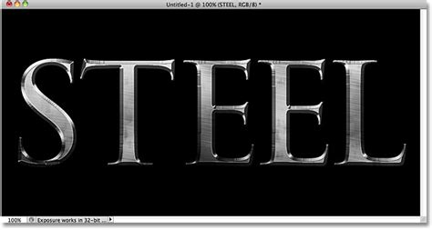 photoshop use pattern for text metal text effect in photoshop