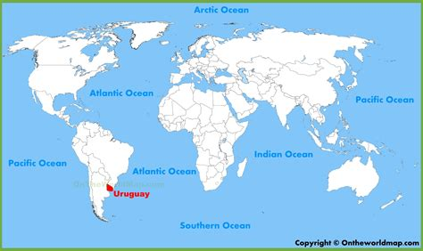 uruguay on a world map uruguay location on the world map